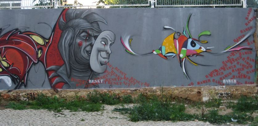 Graffiti de Olhao (Portugal)
