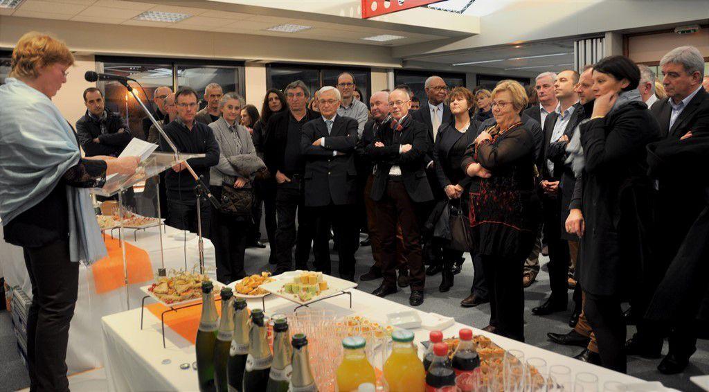 Les vœux  de l'OPAC présentés par la présidente Marie-Christine Coustans