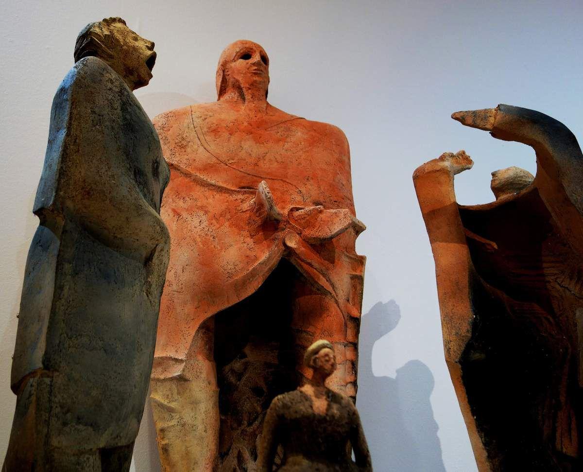 L'Œdipe d' Élisabeth Le Rétif à l'expo céramique du musée breton de Quimper