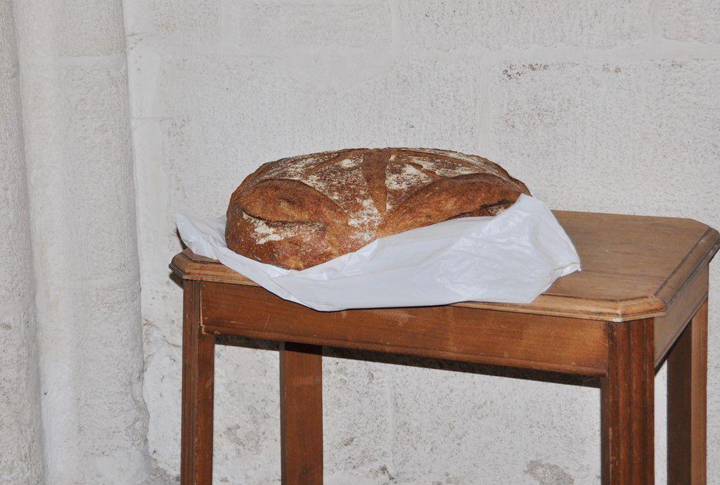 La meule de pain hier, au pied du petit saint noir