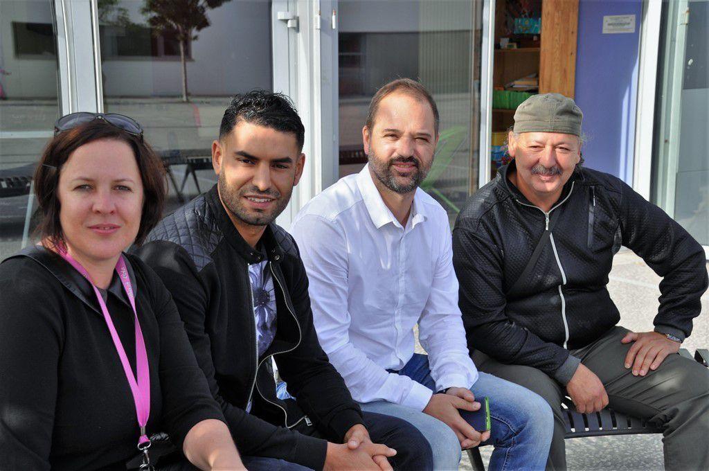 Anne-Gaëlle Le Locat, Brahim Zahafi, Ronan Bléno, El Houari El Bouazzati
