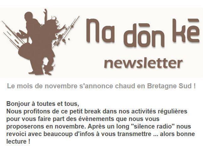 Les News de Na Don Ké et stages à la MPT de Penhars