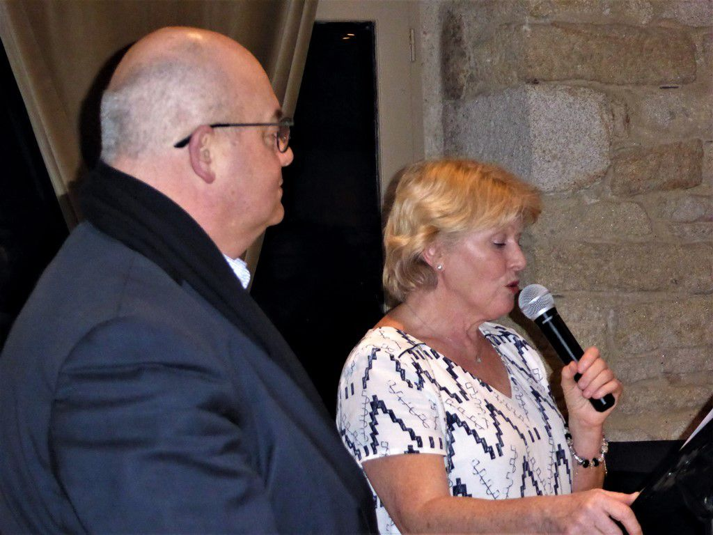 Marie-Christine Coustans, présidente de l'OPAC et Ludovic Jolivet, maire de Quimper, président de Quimper Bretagne Occidentale