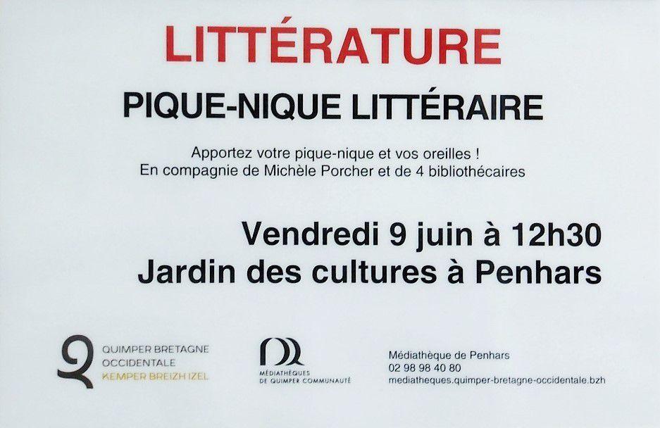 Pique-nique littéraire le 9 juin au jardin des Cultures à Penhars