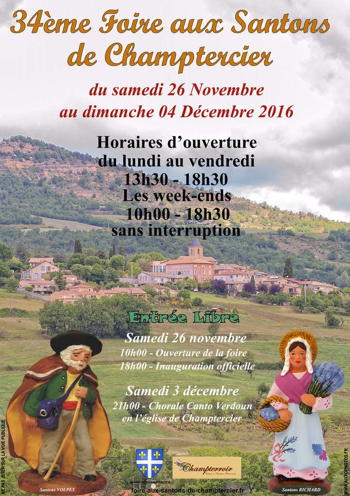 La foire aux santons de Champtercier