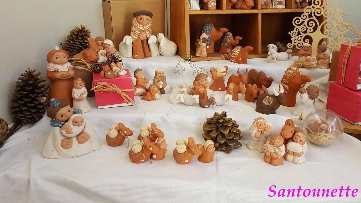 La biennale d'Aubagne suite: les santons de Marinette, de Christine Darc et de Serge Vincent