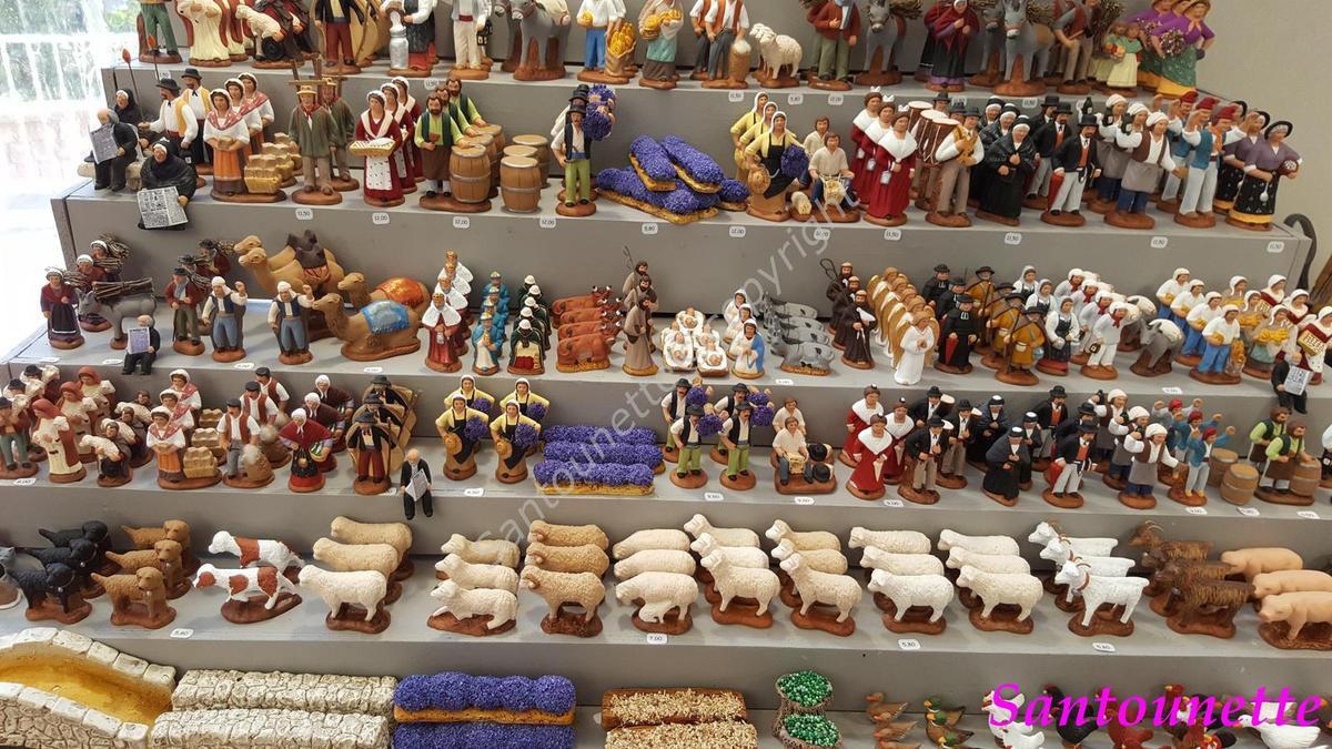 La biennale d'Aubagne 2016 (suite): les santons Marguerat et Cavasse Fery