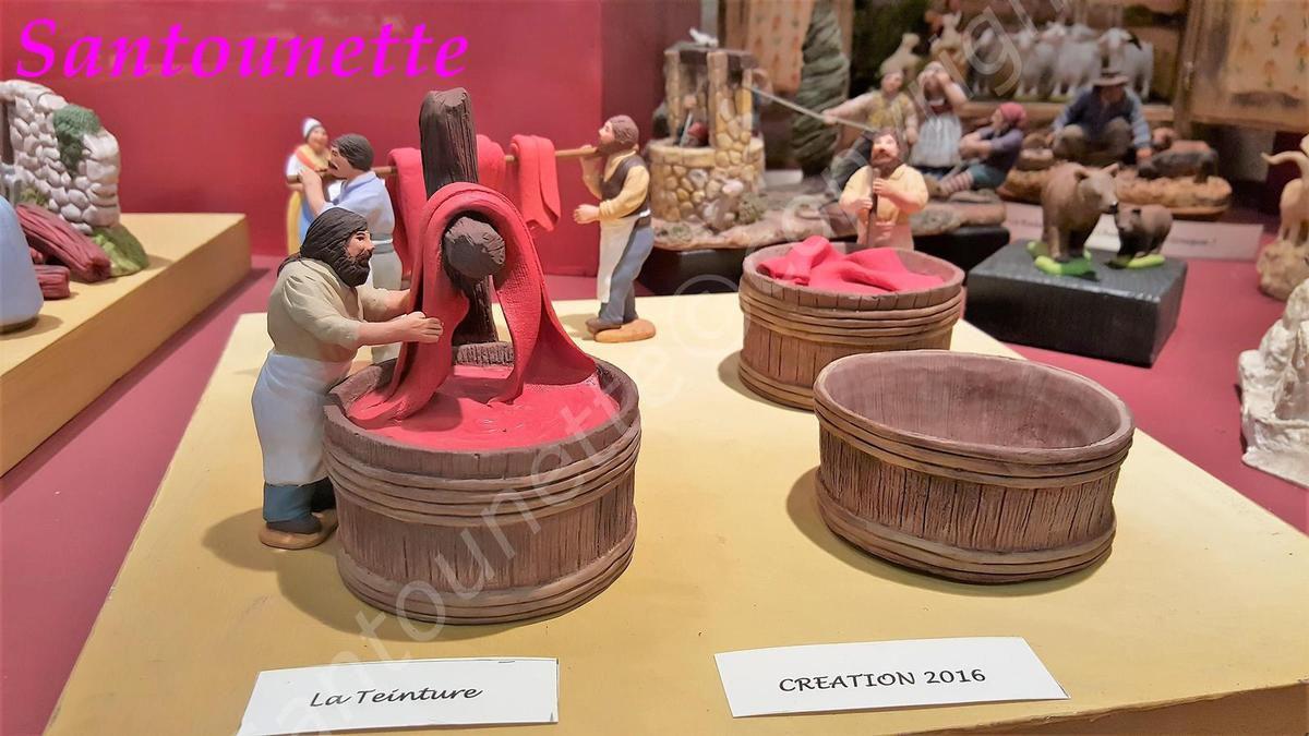 Les santons de Sylvie de Marans (suite): salon des santonniers d'Arles 2016