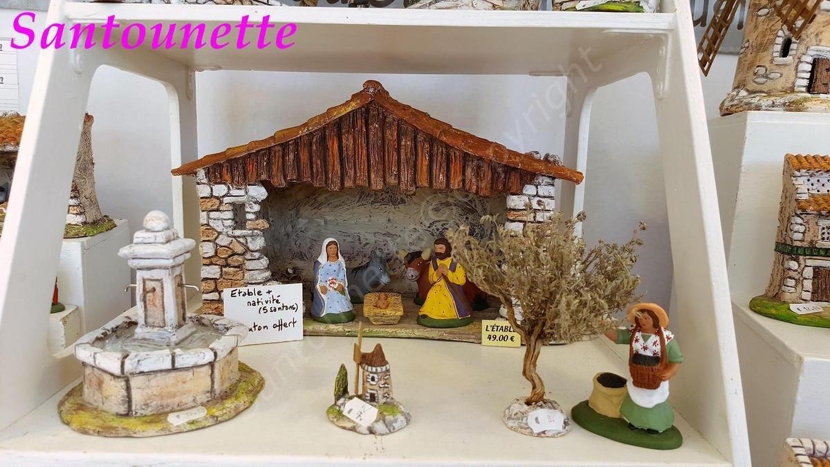Les santons Saurel (foire aux santons et à la céramique d'Aubagne 2017)