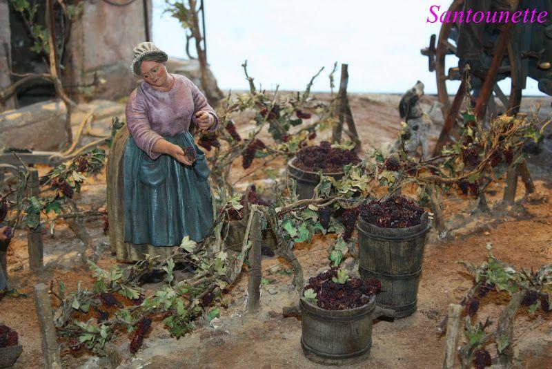 Les santons de Liliane Guiomar (scène des vendanges)