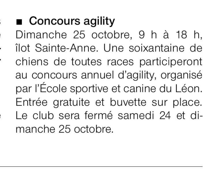 Ouest France du 24 octobre 2015