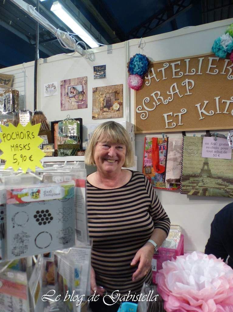 Il s'agit de la boutique Scrap and kits. Cathy Moreau propriétaire de la boutique.
