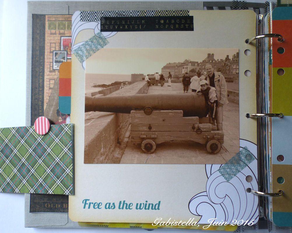 Des cartes découpées en mode PROJECT LIFE. Toutes les photos sont développées en sépia pour accentuer le côté vintage de la déco. Je vous laisse découvrir le reste du mini...