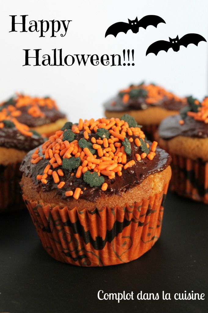Cupcake à la crème de marrons – Happy Halloween !!!
