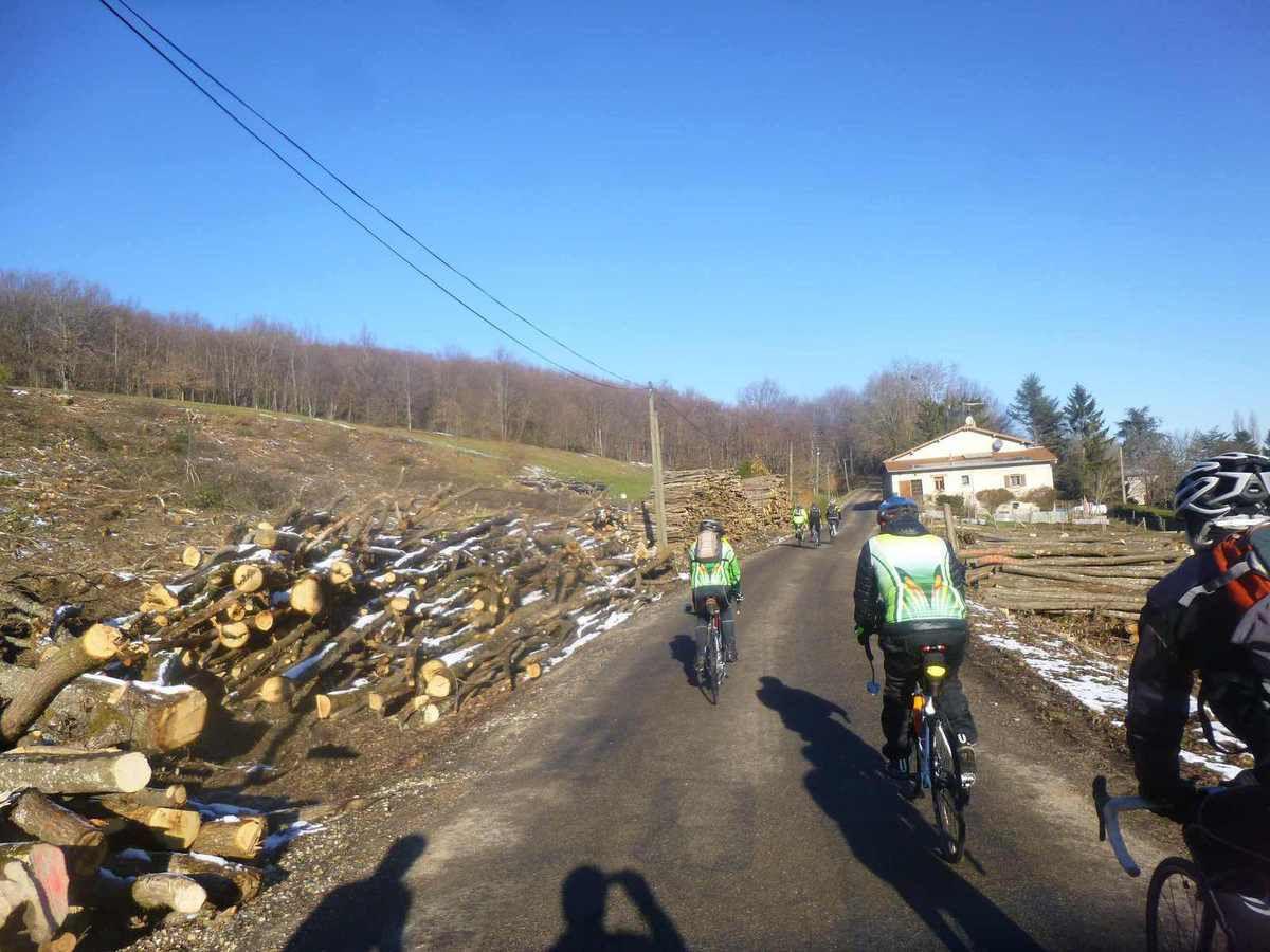 Eyzin Pinet(38)    Randonneurs  11 février 2015