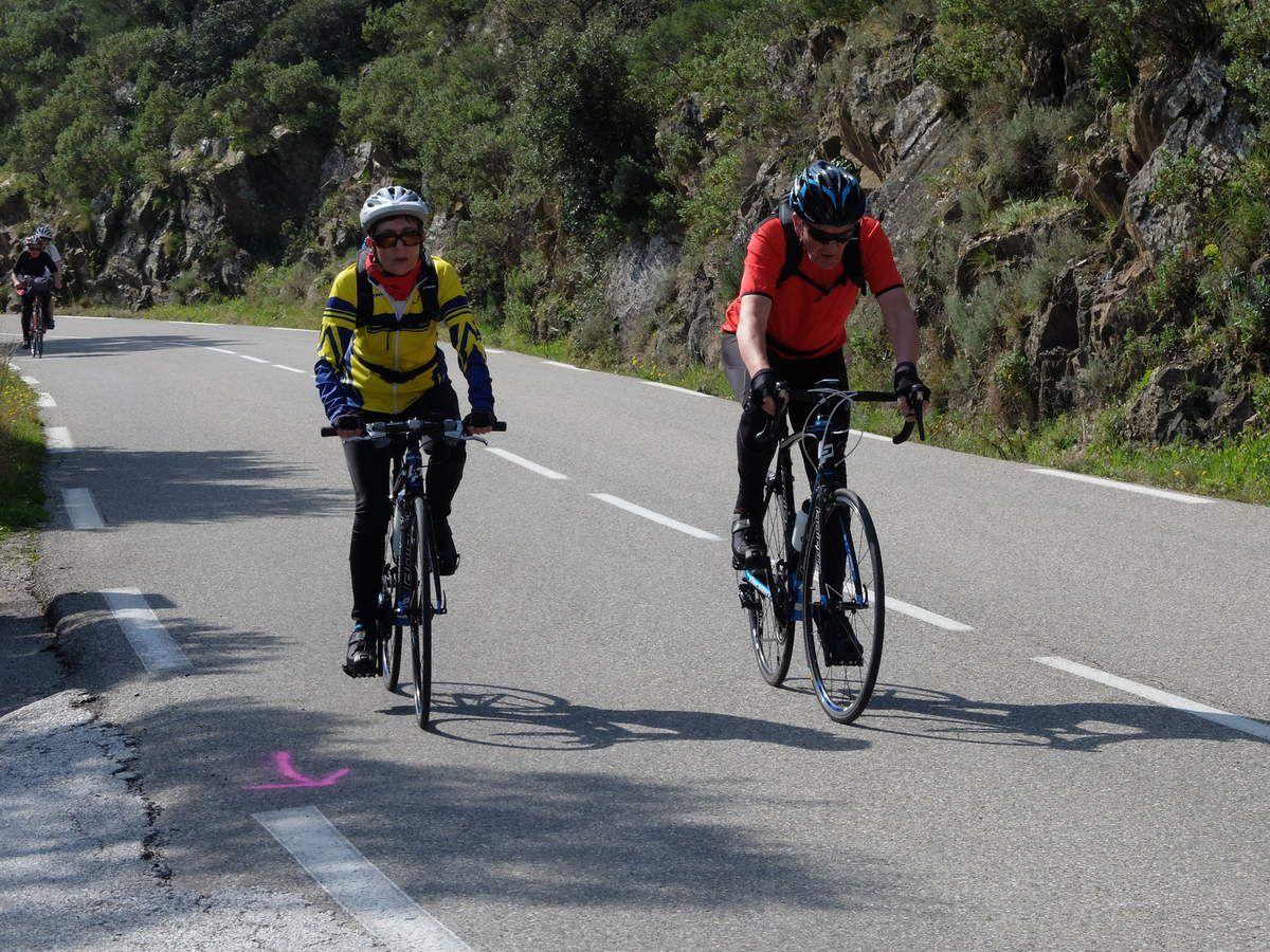 Séjour Hyeres-  Col de l'Espigoulier - Route des crêtes -  Mercredi 18/03/2015