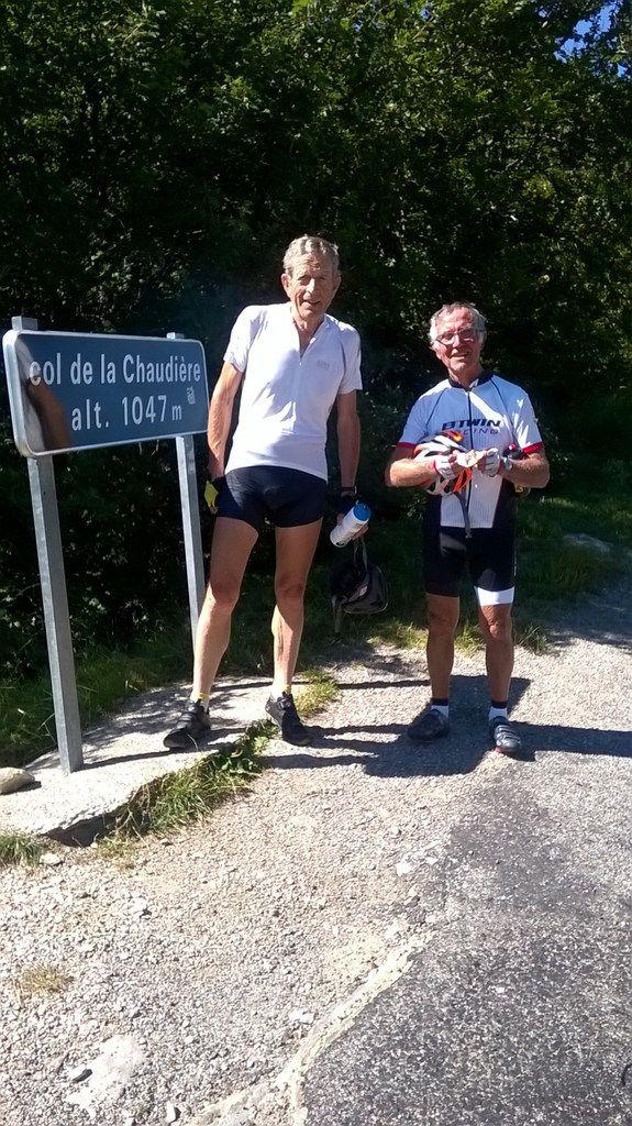 Gilbert qui dirige et connait par coeur ce parcours avec Gérard