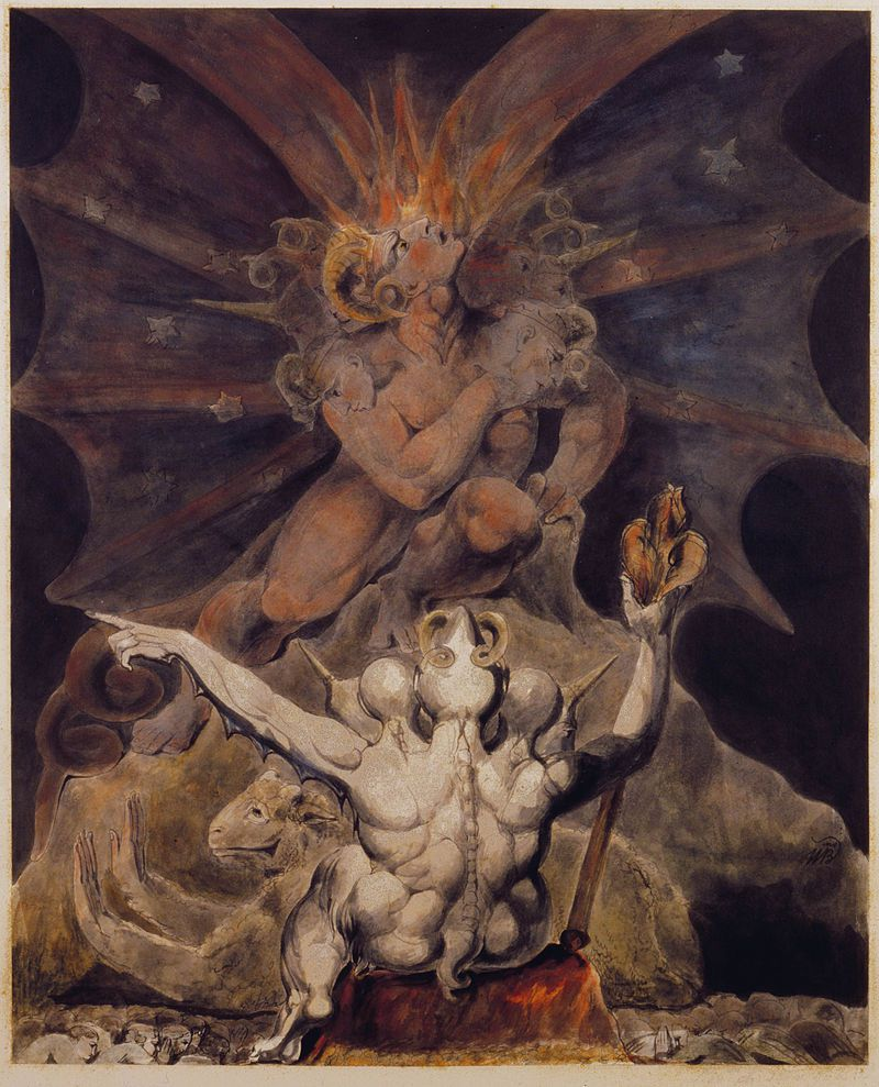 William Blake, The Number of the Beast is 666