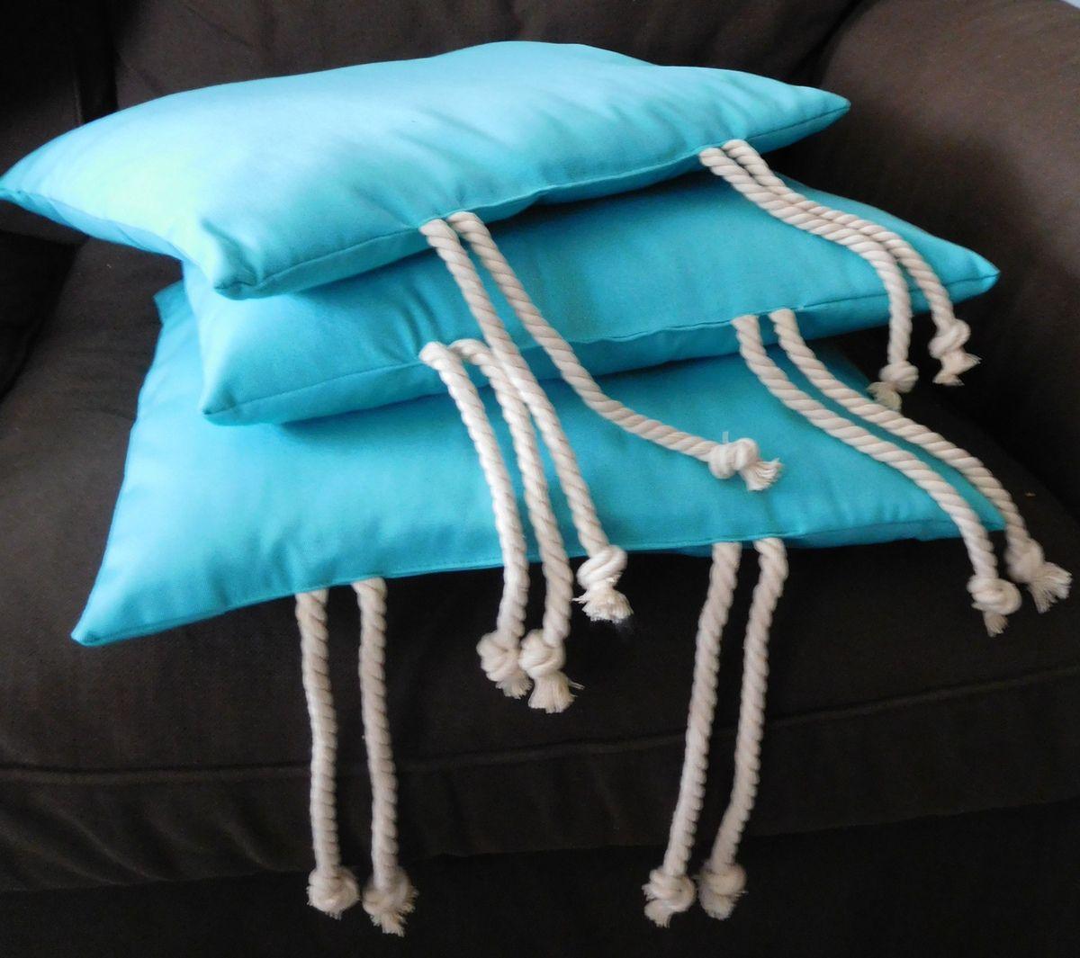 Galettes de chaises lagon et corde marine