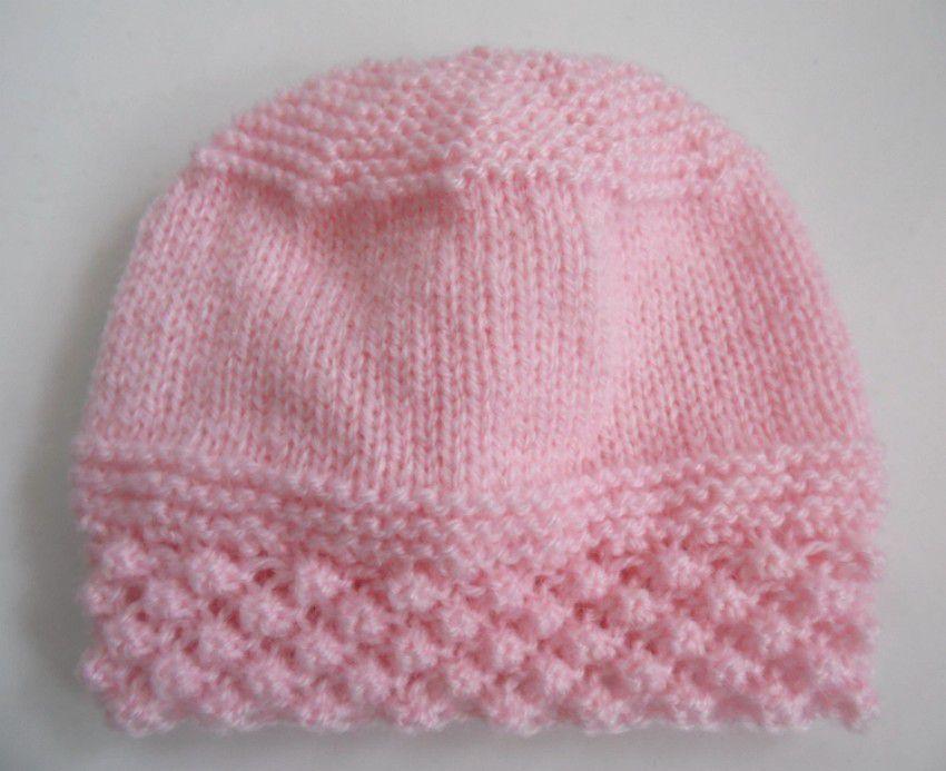 Trousseau bébé rose tricot laine fait main