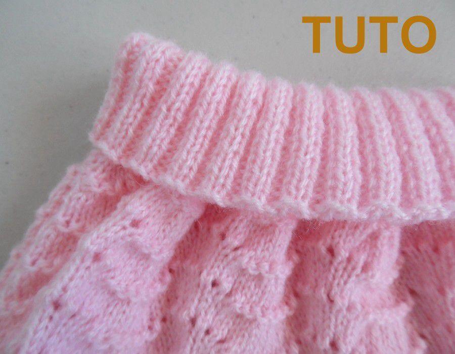 Explication tuto ensemble jupe et chaussons ballerine bébé tricot laine fait-main