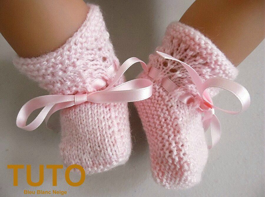explication tuto chaussons vagues b b layette tricot laine fait main tricot fait main tricot. Black Bedroom Furniture Sets. Home Design Ideas