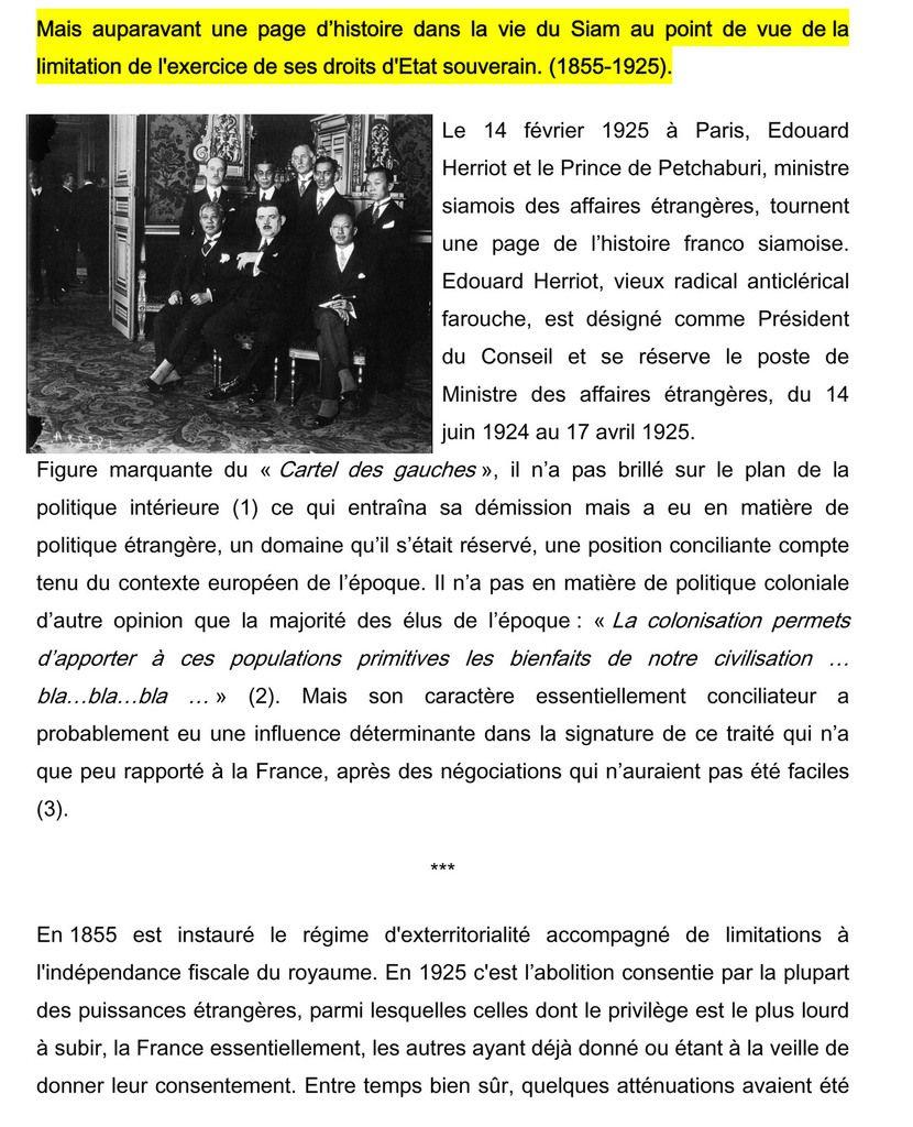 176.  La fin du régime des capitulations au Siam en 1925.