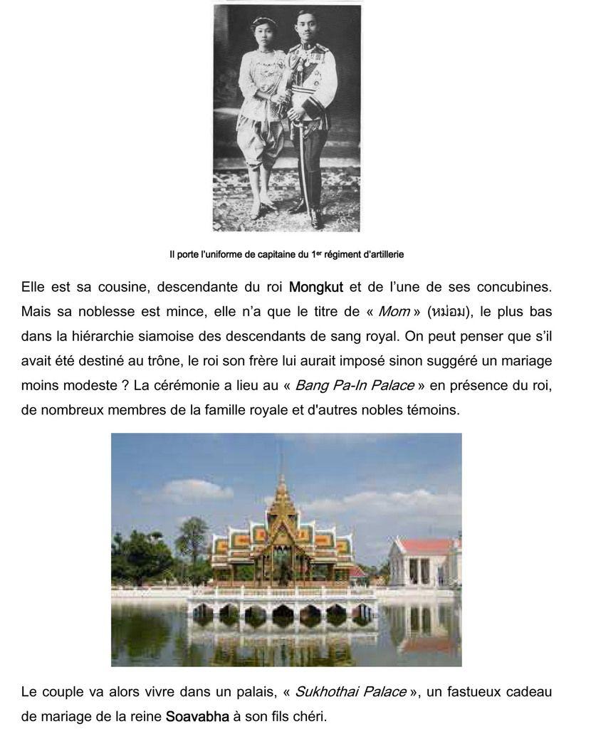 180. De L'enfance, Aux Études En Europe, Et La Vie Au Siam Du Futur Rama VII. (1893-1925)