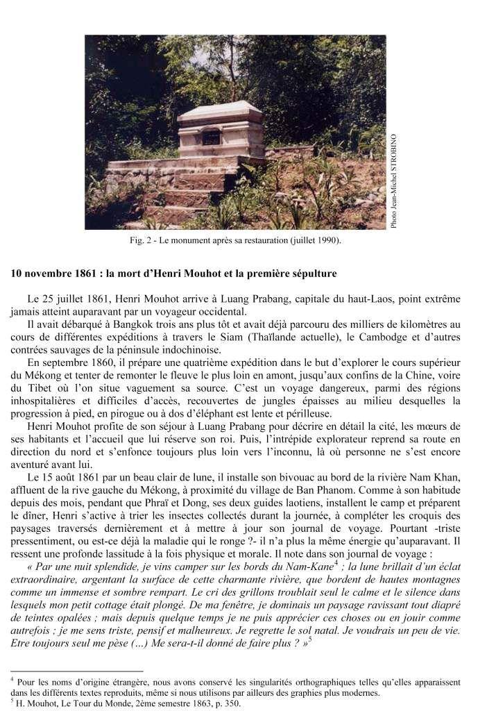 INVITÉ 2 - HISTOIRE DE LA SÉPULTURE D'HENRI MOUHOT ET DE SON MONUMENT FUNÉRAIRE 1861-1990