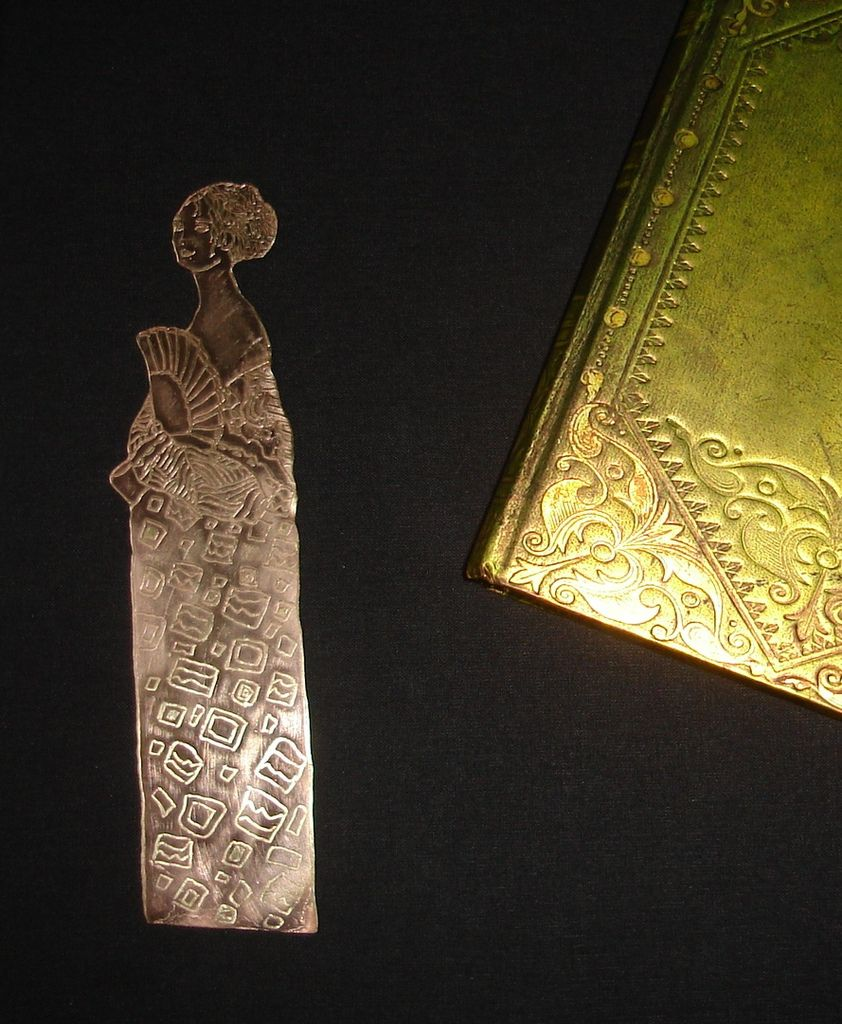 Marque-pages Femme à l'éventail (G.Klimt)
