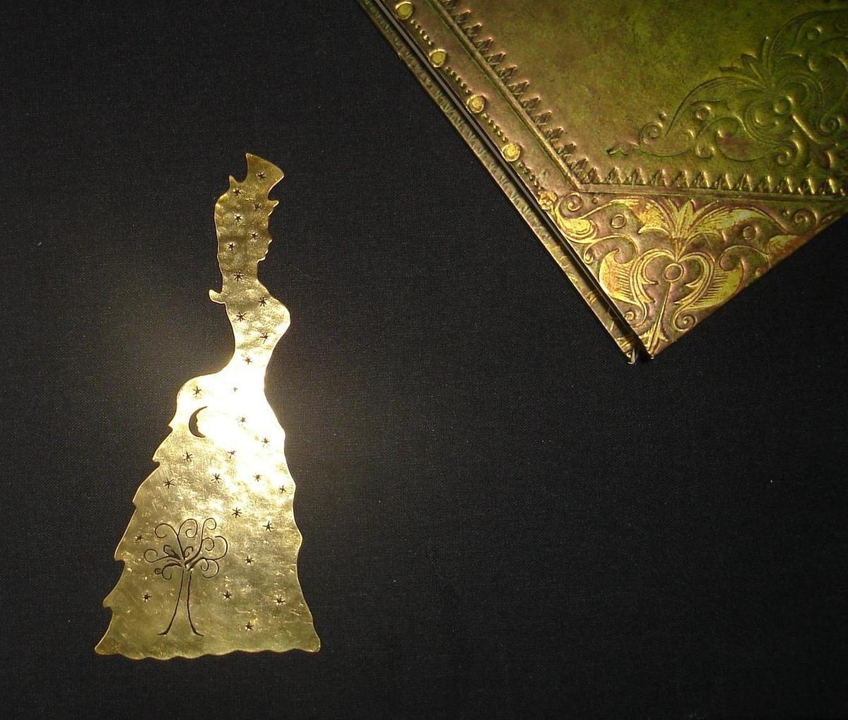 Marque-pages Lady victorienne aux étoiles