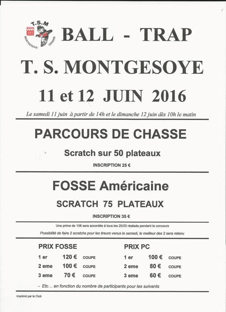 KERMESSE TSM 11 et 12 JUIN 2016 -  75 FA - 50 PC