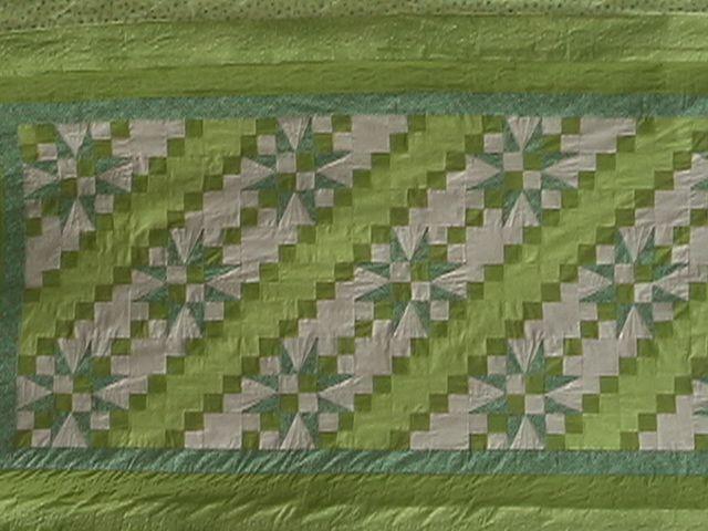 patchwork dessus de lit