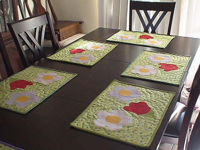 sets de table du printemps
