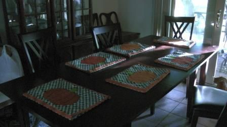 sets de table citrouilles