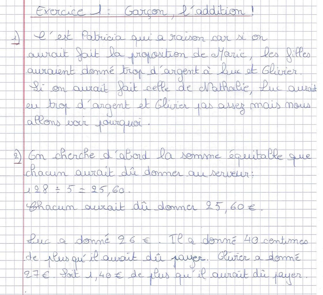 dm de maths 6eme