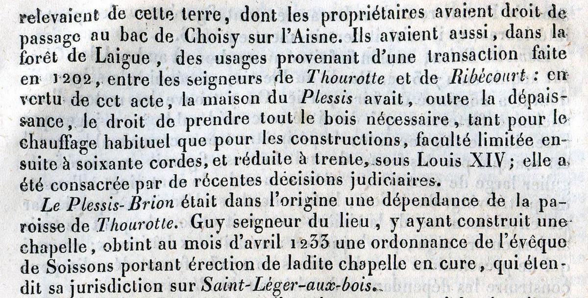 Album - le village du Plessis-Brion (Oise), son Histoire