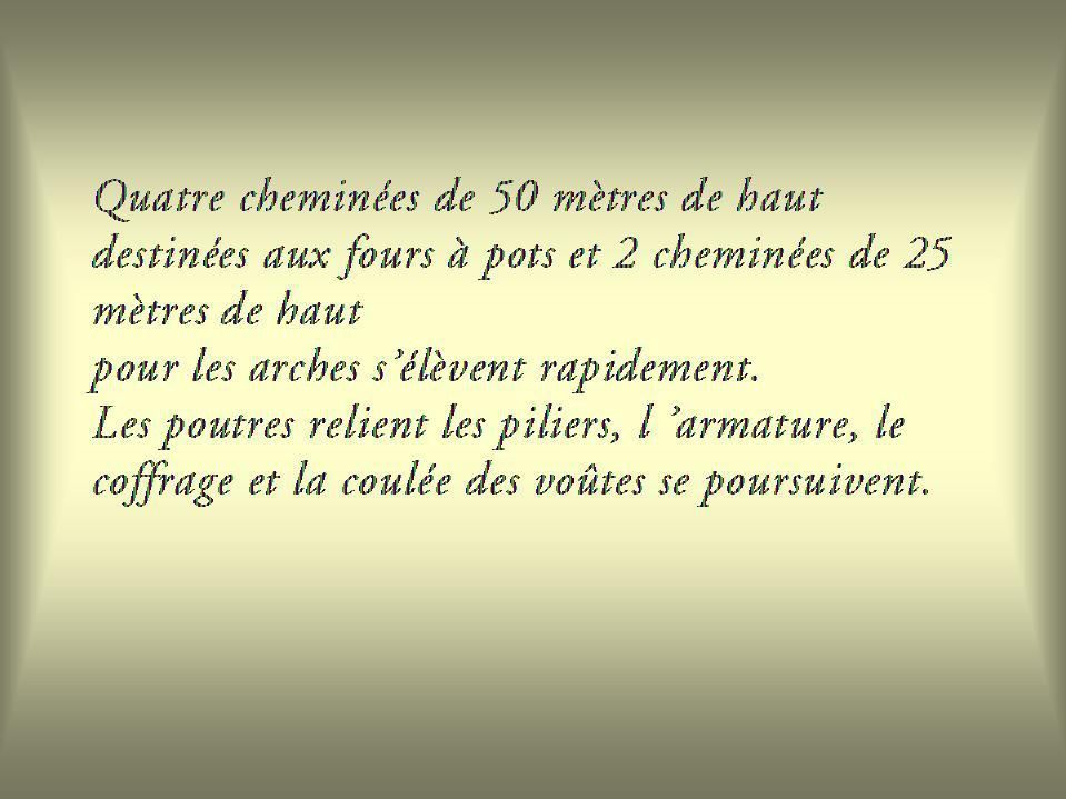 2, la Glacerie de Chantereine ( Saint-Gobain ), sa construction début 1920