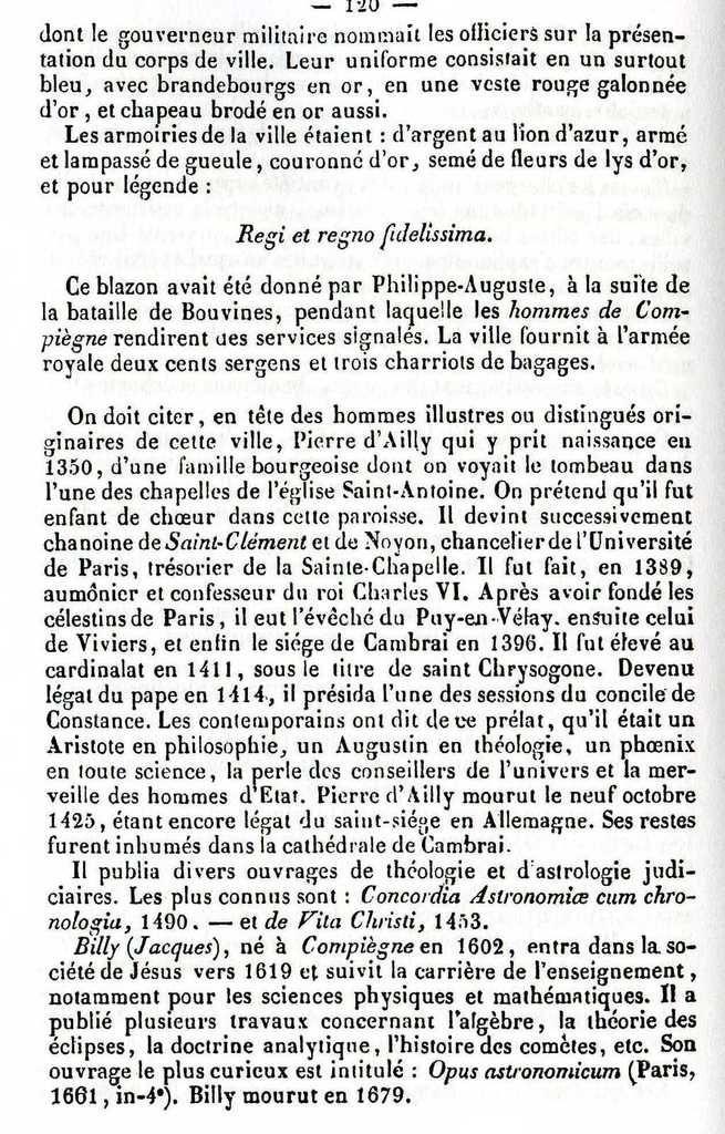 Album - la ville de Compiègne (Oise), son Histoire vers 1840i
