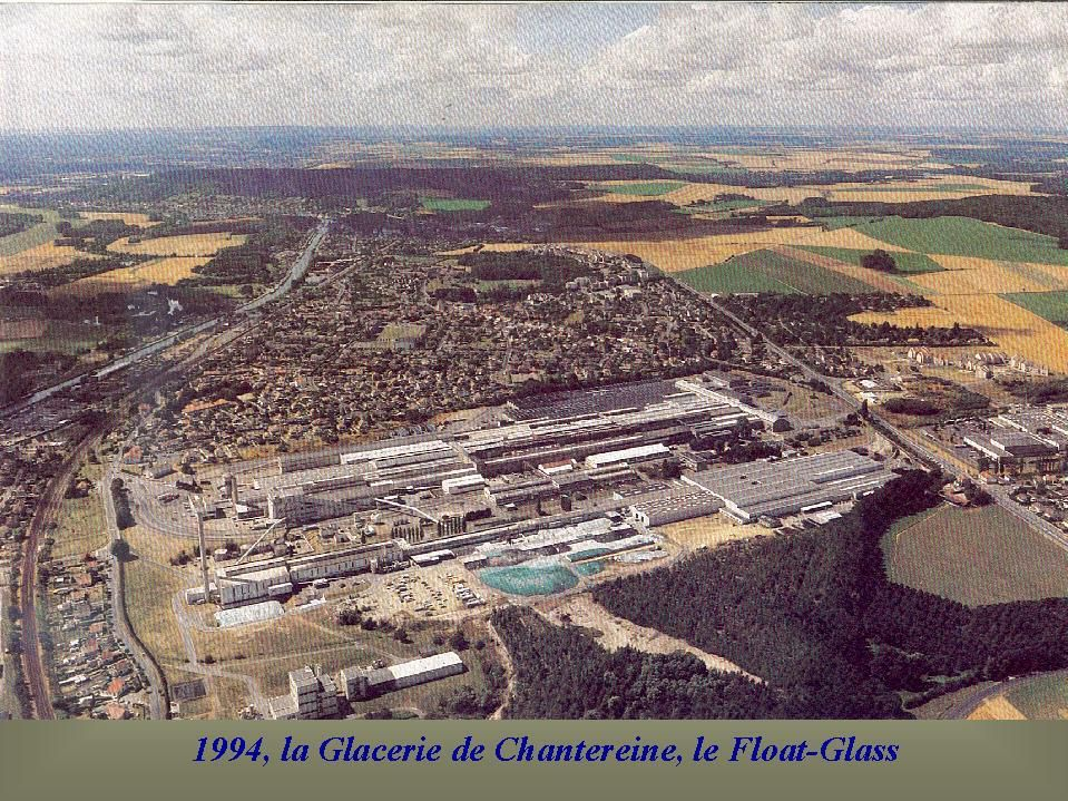 Album - Chantereine, vue générale de la Glacerie, le four 'A' et four 'B' et Float-Glass