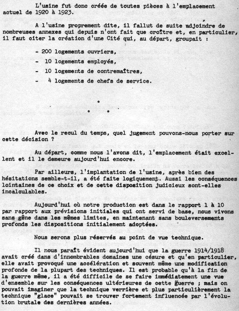 Album - Chantereine, 1964, la présentation technique de ses ateliers de fabrication et de transformation de la Glace