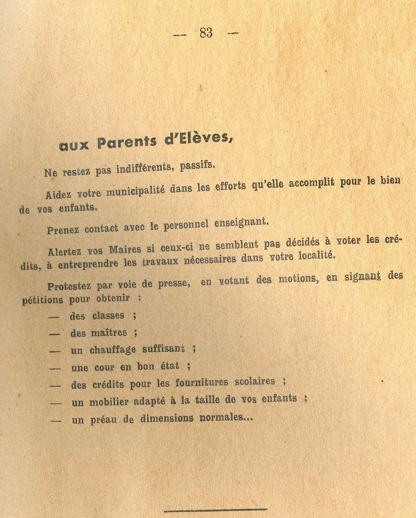 Album - s Historique de la situation de l'école publique dans l'Oise en 1954