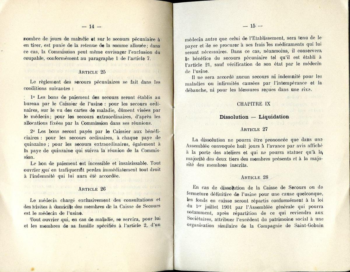 Album - Chantereine, le Livret d'Accueil et la Caisse de Secours de la Glacerie de Chantereine