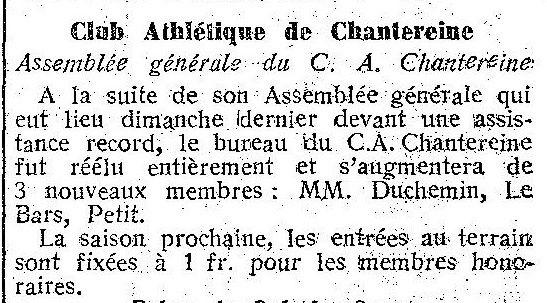 Album - Chantereine, les activités sportives , le cercle du C.A.C
