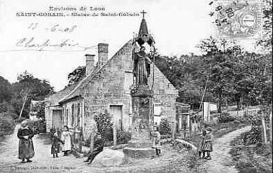 Album - le village de Saint-Gobain (Aisne), l'église, le pont, le tramway, la statue