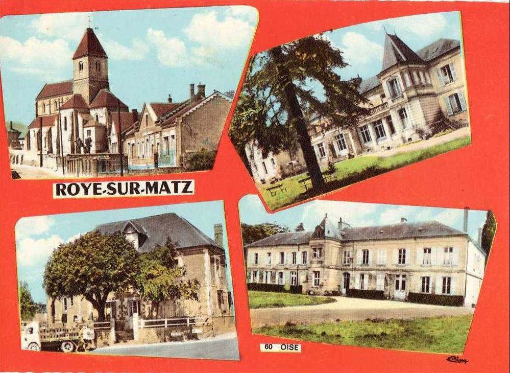 Album - le village de Roye-sur-Matz (Oise), le château, l'église