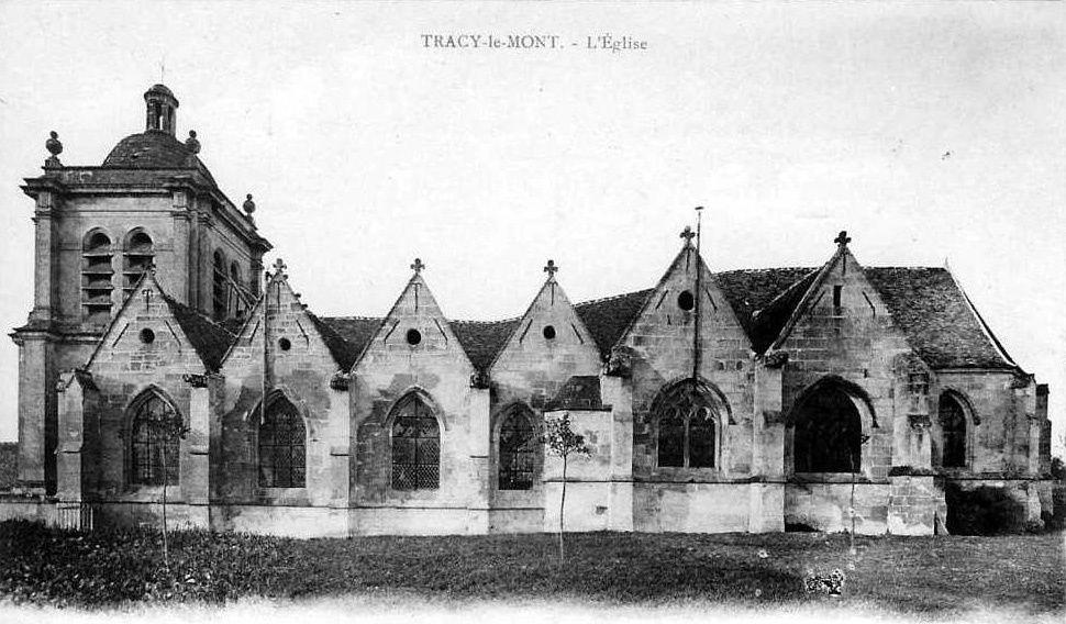 Album - le village de Tracy le Mont (Oise),  les écoles, l'église, monument