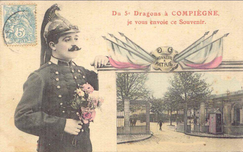 Album - la ville de Compiègne (Oise), la caserne des dragons