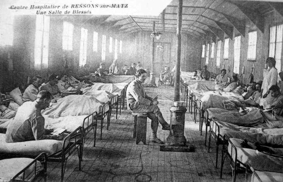 Album - le village de Ressons sur Matz (Oise), les destructions de la Guerre