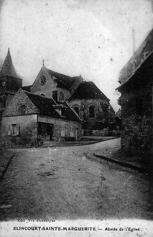 Album - le village de Elincourt-Sainte-Marguerite (Oise), le château et l'église
